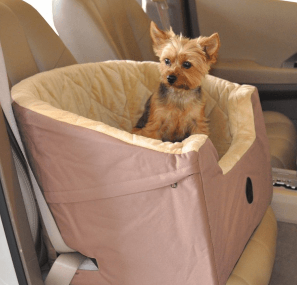 Bucket Booster Dog Car Seat- Tan Small Puppy's Home