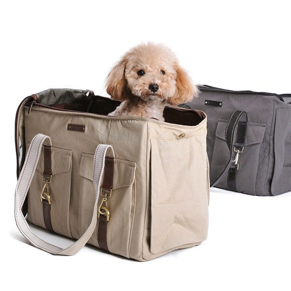 Buckle Canvas Dog Carrier Tote Puppy's Home