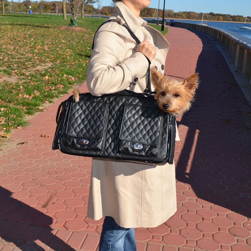 Marlee Collection Incognito Dog Carrier - Quilted Black Puppy's Home