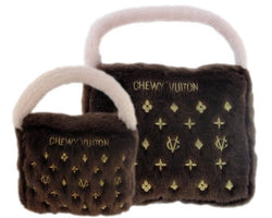 Classic Brown Chewy Vuiton Bag Dog Toy Puppy's Home