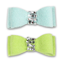 Crystal Rocks Swarovski Dog Hair Bow Puppy's Home
