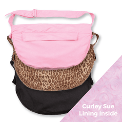 Luxe Suede Dog Cuddle Carrier by Susan Lanci Puppy's Home