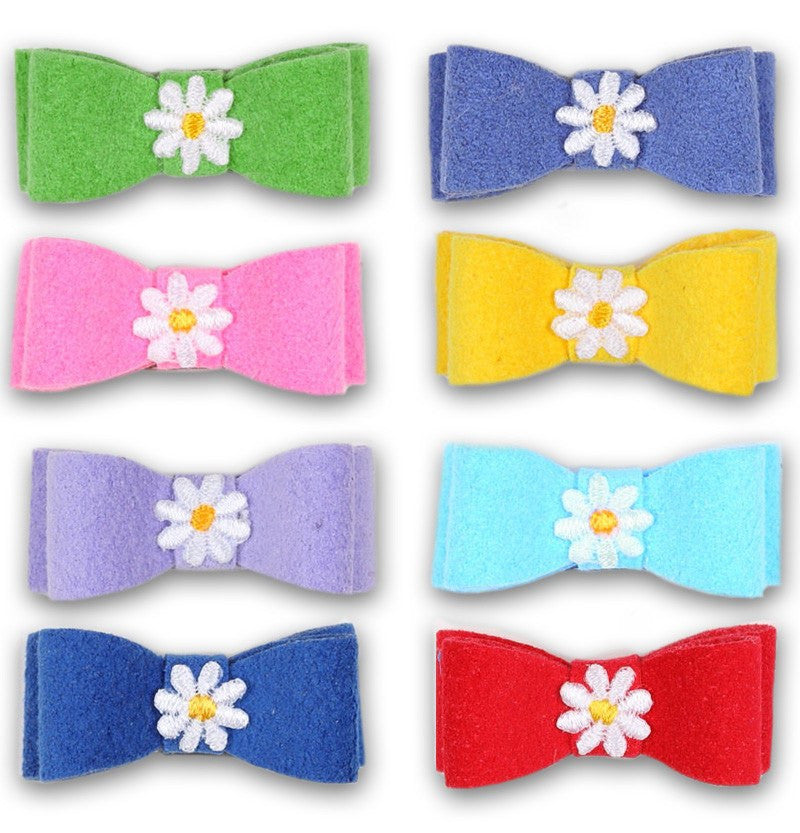 Daisy Ultrasuede Dog Hair Bow by Susan Lanci Puppy's Home