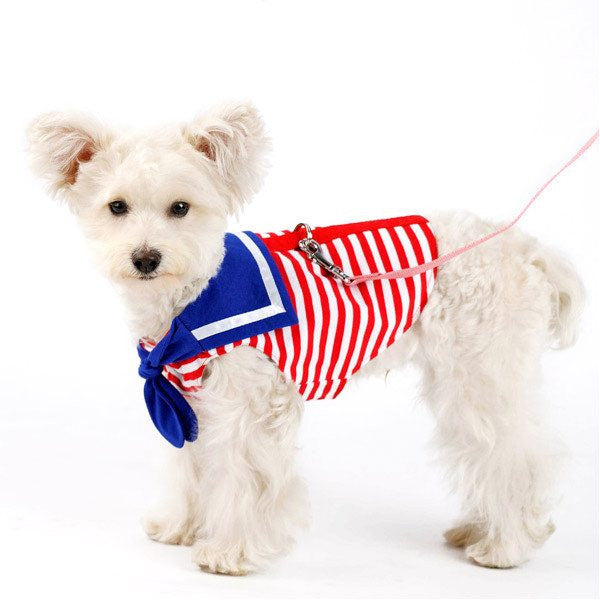 Sailor Nautical Shirt Dog Harness Puppy's Home