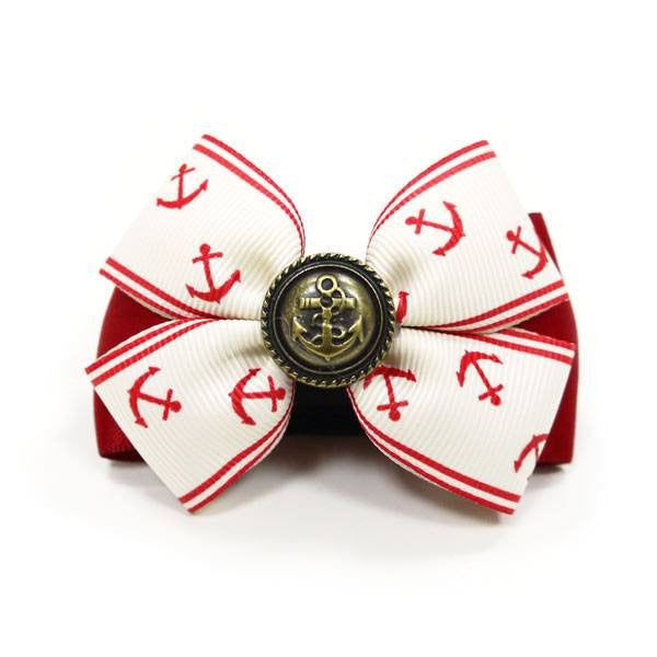 EasyBow Anchor Red Dog Bow Tie Puppy's Home