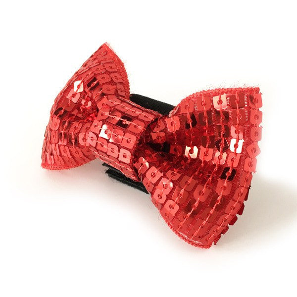 EasyBOW Sequin Red Dog Bow Tie Puppy's Home