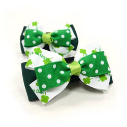 "EasyBOW ""Happy St. Patrick's Day"" Dog Bow Tie Puppy's Home"