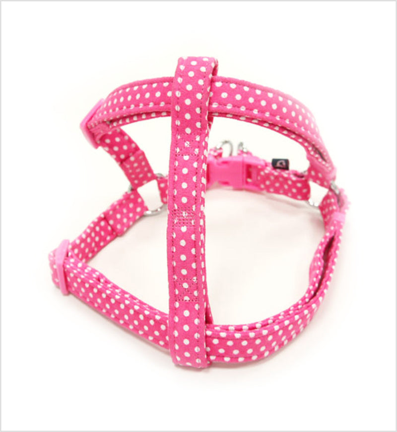 EasyClick Polka Dots Dog Harness and Leash by DOGO Design