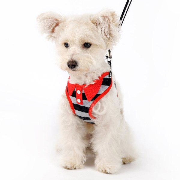 EasyGO Polo Shirt Dog Harness with Leash Puppy's Home