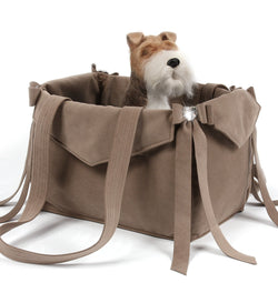 Fawn Tail Bow Heart Luxury Dog Carrier by Susan Lanci Puppy's Home