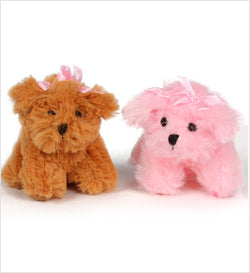 Tiny Fluff Pup Handmade Squeaky Toy by Susan Lanci Puppy's Home