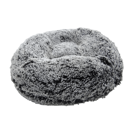 Frosted Willow Shag Bagel Designer Dog Bed Puppy's Home