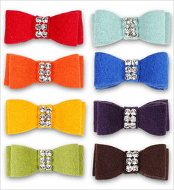 Giltmore Swarovski Dog Hair Bow by Susan Lanci Puppy's Home