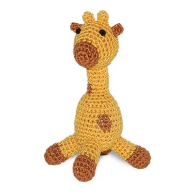 Giraffe Hand-Crocheted Cotton Dog Squeaky Toy Puppy's Home