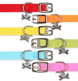 "Plain Ultrasuede Dog Collar 1/2"" wide by Susan Lanci Puppy's Home"