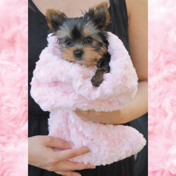 Rosebud Pink Snuggle Pup Sleeping Bag- Teacup Puppy's Home