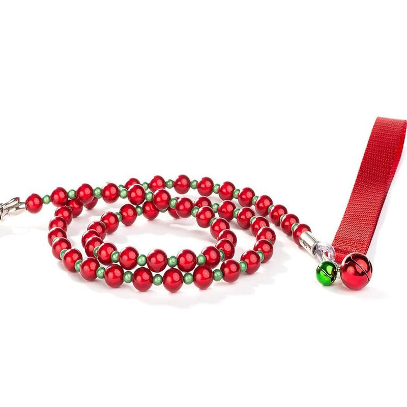 Jingle Bells Holiday Beaded Dog Leash Puppy's Home