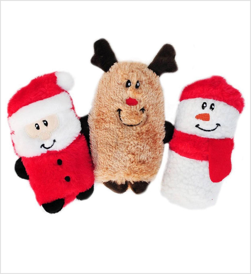 Holiday Squeaky Buddies - 3 pack dog toys Puppy's Home