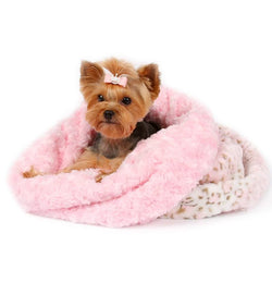 Pink Lynx Curley Sue Dog Cuddle Cup by Susan Lanci Puppy's Home