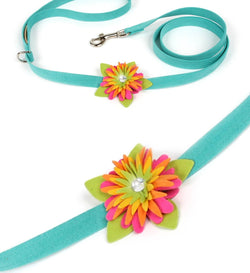 Island Flower Dog Leash by Susan Lanci Puppy's Home