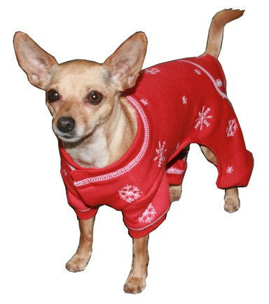 Snowflake Longjohn Winter Dog Pajamas Puppy's Home