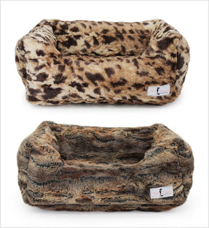 Animal Print Luxe Dog Bed Puppy's Home