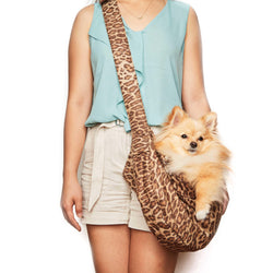 Savannah Leopard Ultrasuede Dog Cuddle Carrier by Susan Lanci Puppy's Home