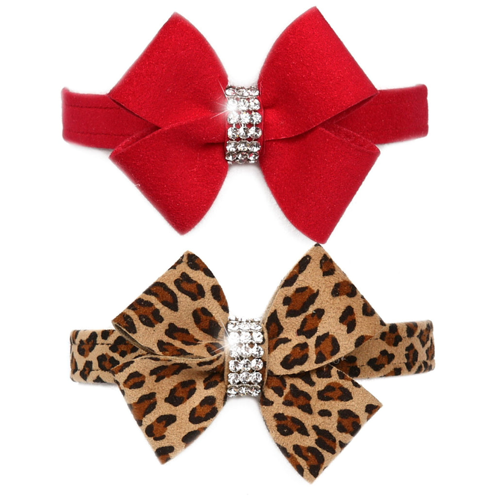 "Nouveau Bow 1/2"" Dog Collar by Susan Lanci Puppy's Home"