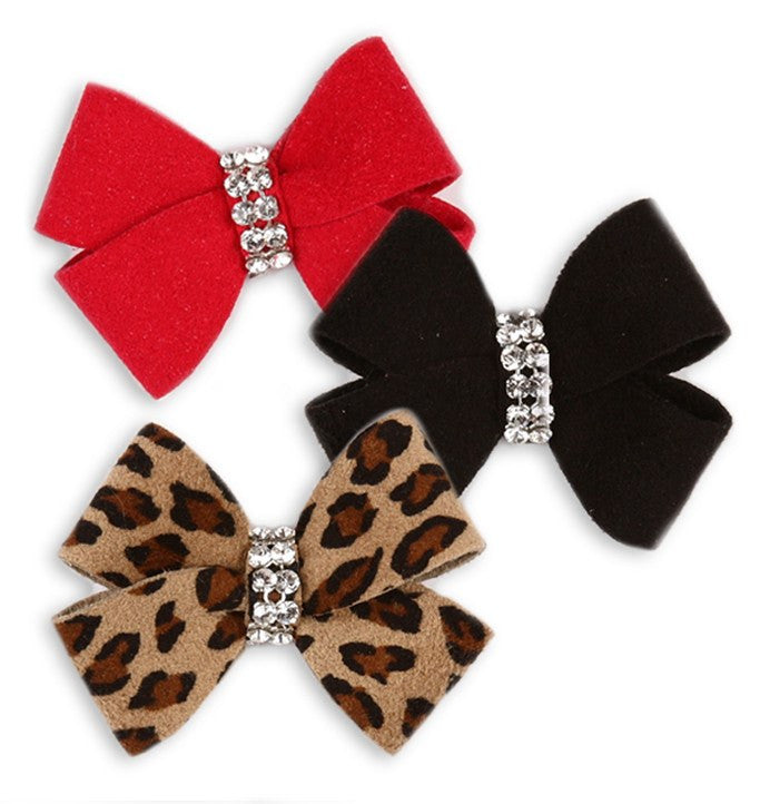 Nouveau Bow Swarovski Hair Bow Puppy's Home