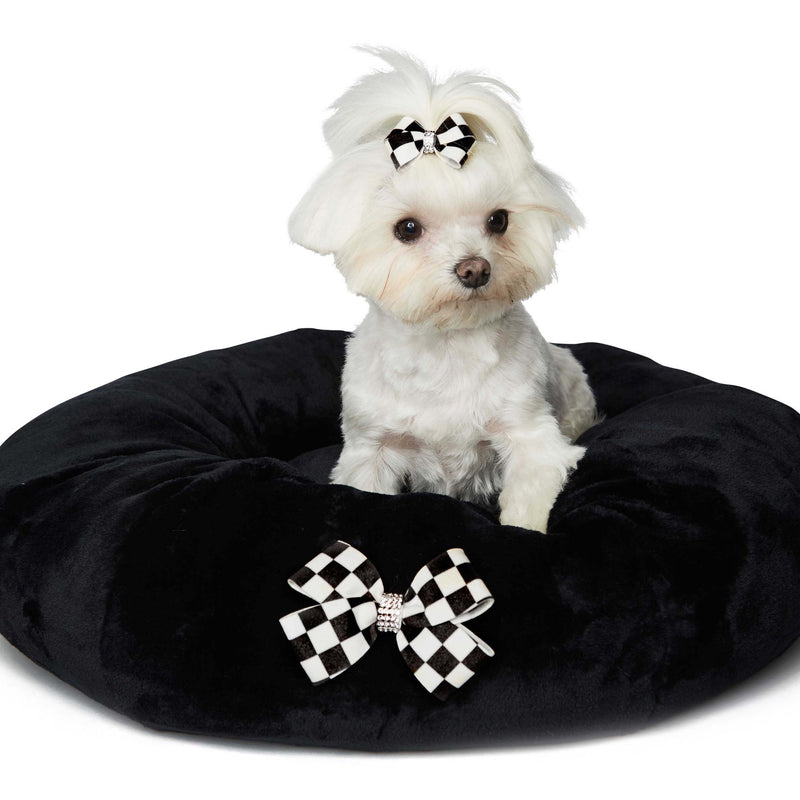 Windsor Check Black Spa Bed by Susan Lanci Puppy's Home
