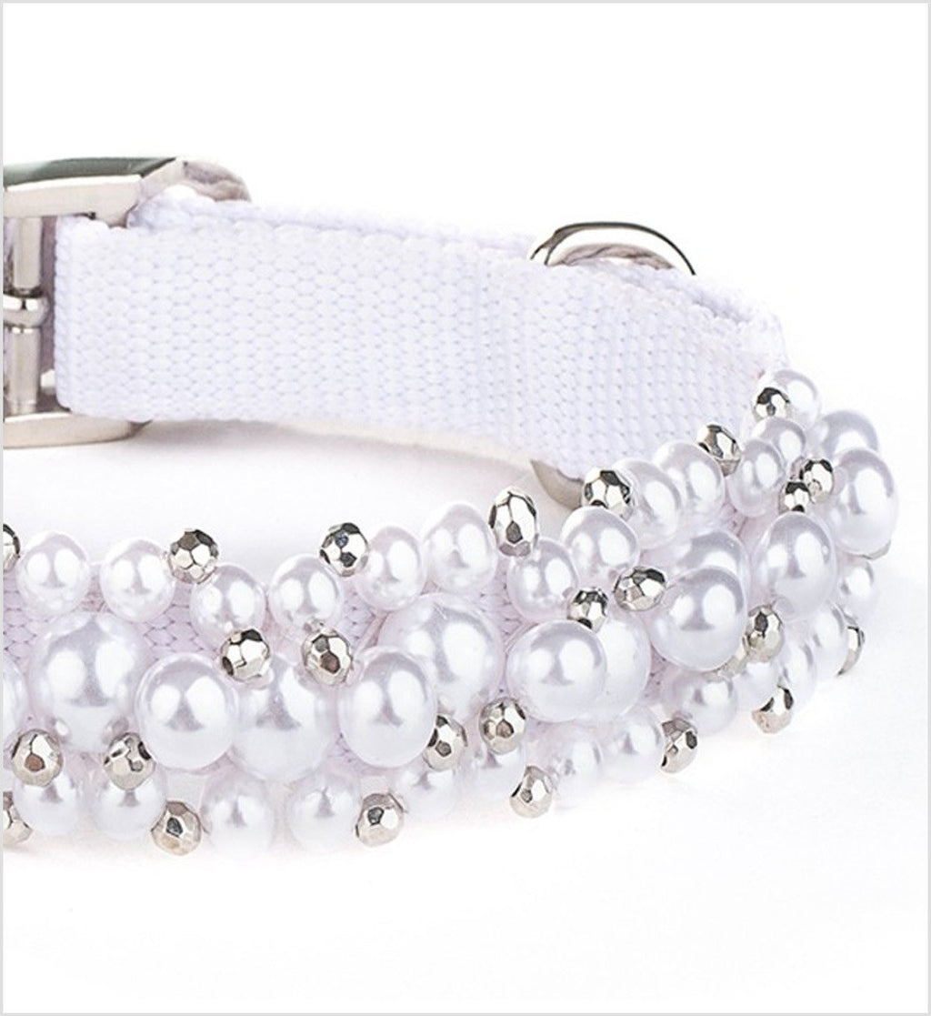 Pearl Beaded Dog Collar Puppy's Home