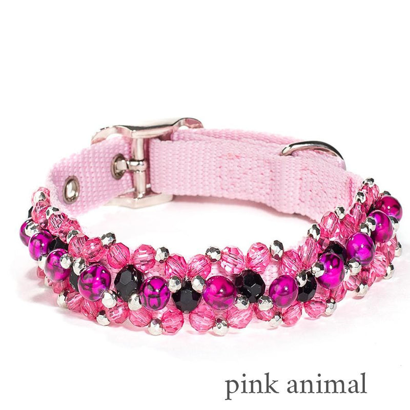 Animal Prints Beaded Dog Collar Puppy's Home