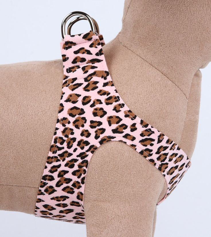 Pink Cheetah Couture Ultrasuede Step-In Dog Harness Puppy's Home