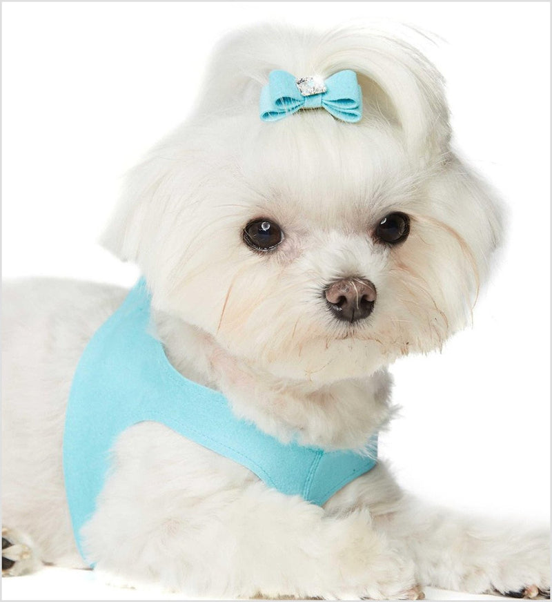 Plain & Simple Ultrasuede Step-In Harness by Susan Lanci Puppy's Home