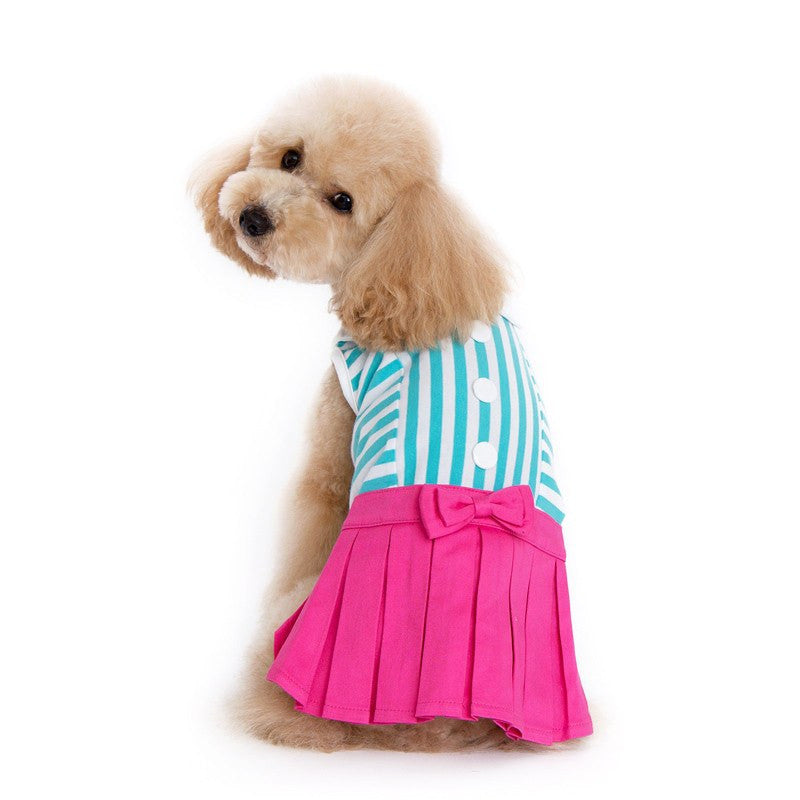 Pleated Tennis Dog Dress Puppy's Home