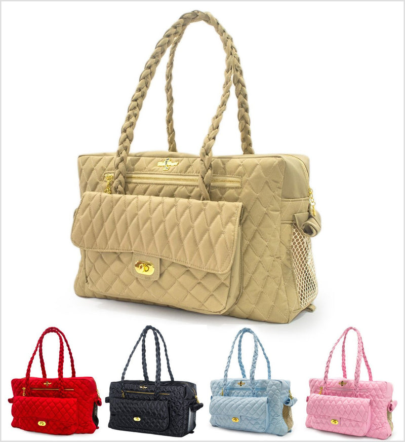 Quilted Porsha Luxury Dog Pet Carrier Puppy's Home