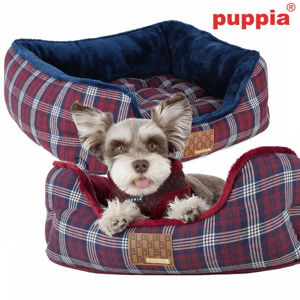 Theodore Plaid Small Dog Bed with Matching Toy Puppy's Home