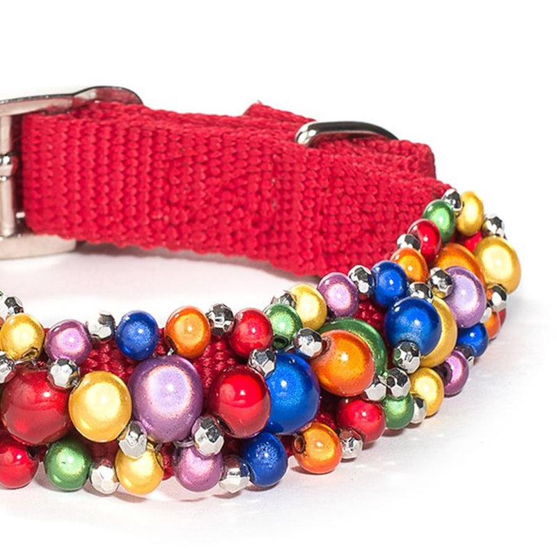 Rainbow Beaded Dog Collar Puppy's Home