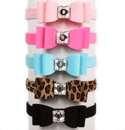 "The Really Big Bow Dog Collar 1/2"" wide by Susan Lanci Puppy's Home"