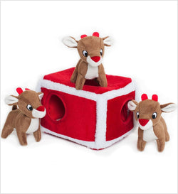 Holiday Reindeer Puzzle Dog Toy Puppy's Home