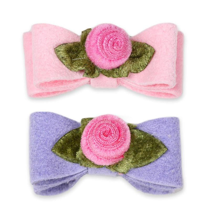 Sweetheart Rose Hair Bow by Susan Lanci Puppy's Home