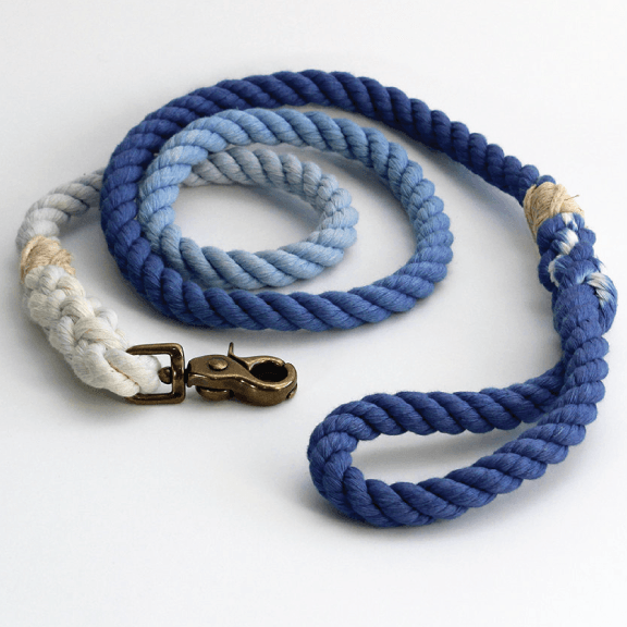 Green Trout Outfitters Handmade Royal Blue Ombre Rope Dog Leash - Final Sale Puppy's Home