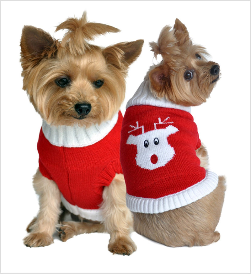 Rudolph Holiday Dog Sweater Puppy's Home