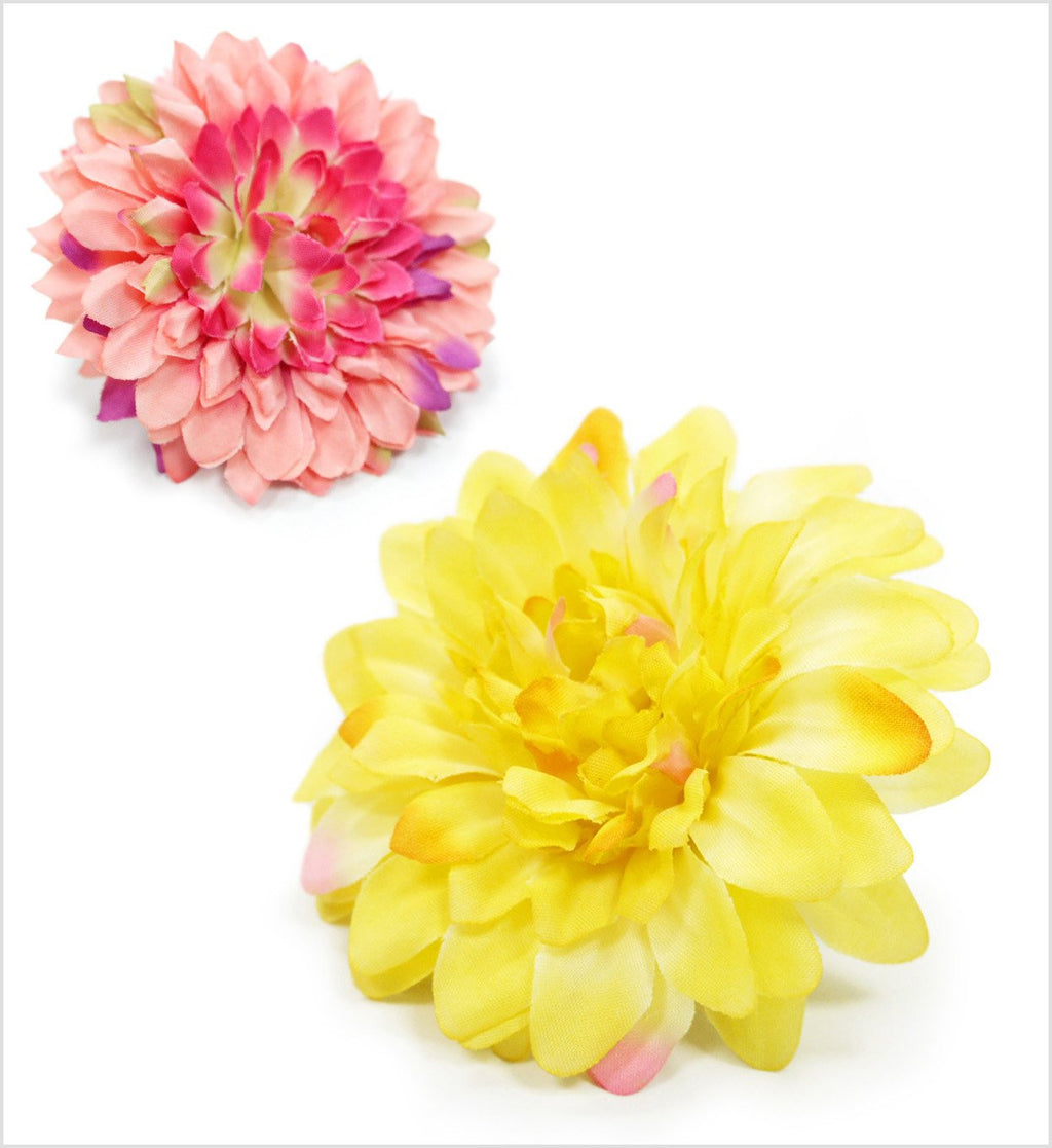 Dahlia Flowers Dog Collar Slider Puppy's Home