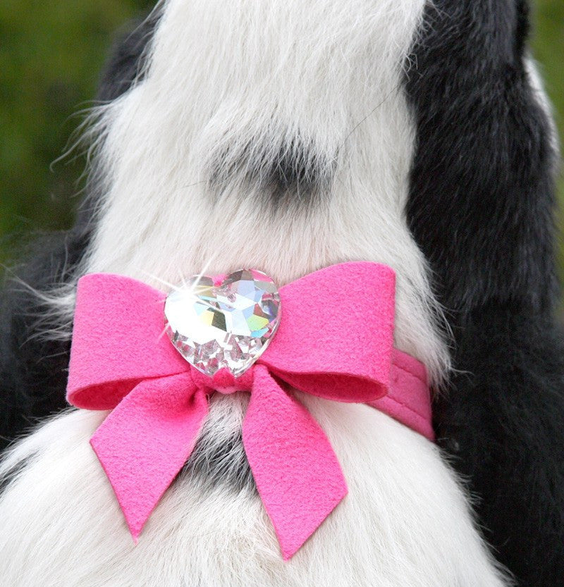 Tail Bow Heart Swarovski Crystal Dog Collar by Susan Lanci Puppy's Home