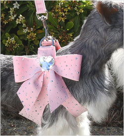 Tail Bow Heart Silver Stardust Step In Dog Harness by Susan Lanci Puppy's Home
