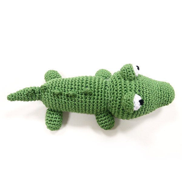 Alligator Handmade Crochet Cotton Dog Squeaky Toy Puppy's Home