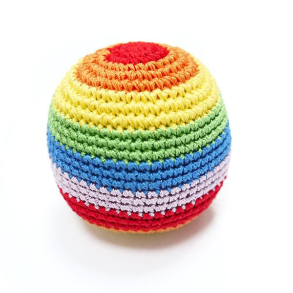 Rainbow Ball Cotton Crochet Dog Toy Puppy's Home
