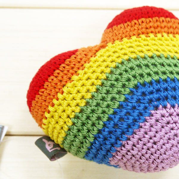 Rainbow Love Crochet Toy Puppy's Home