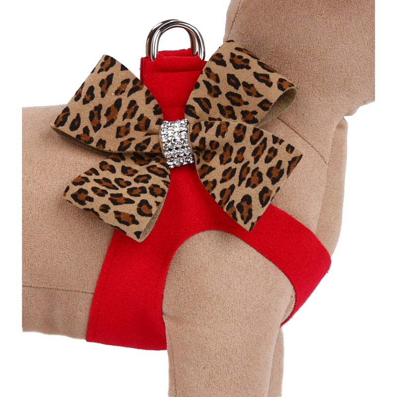Nouveau Bow Cheetah with Red Step-In Harness